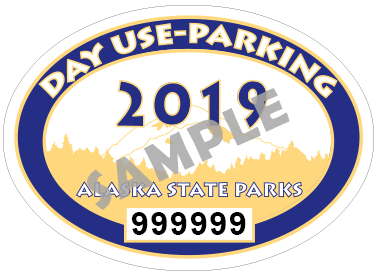 Day use parking 2018 graphic
